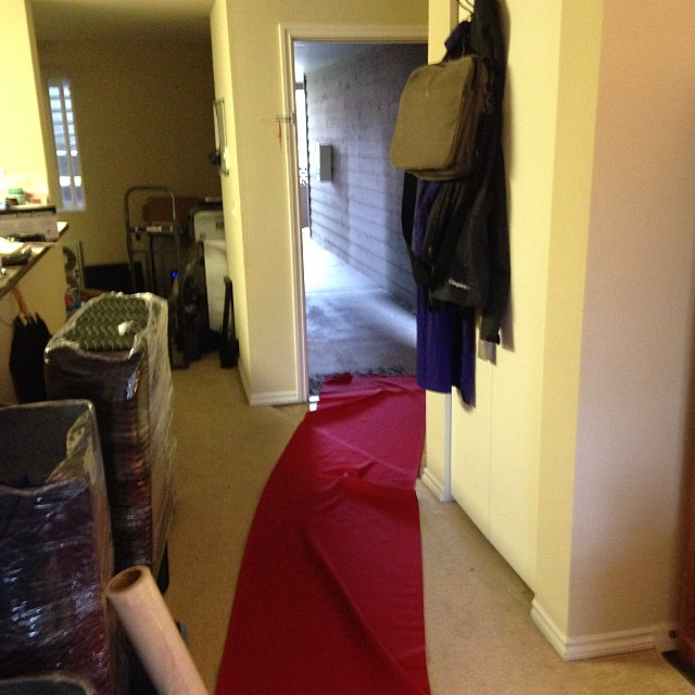 Never had a red carpet rolled out for a place I was LEAVING before. #movingday