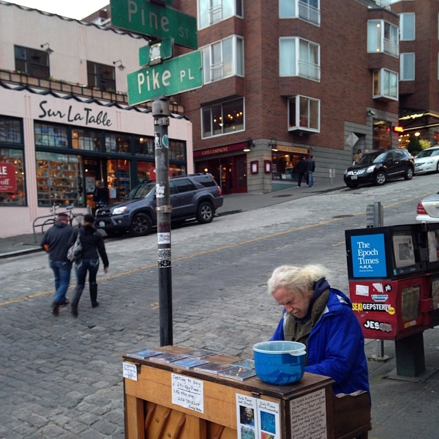 It's not easy being a street busker with an upright piano.