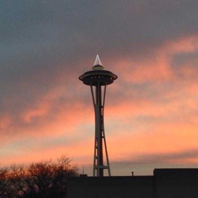 Space Needle at sunrise