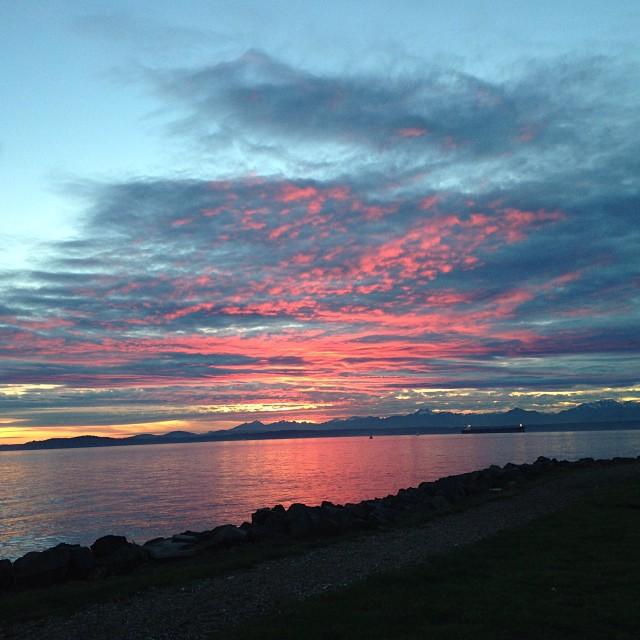 Elliott Bay at sunset