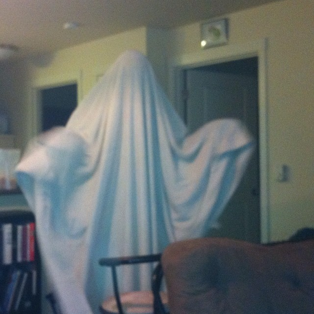 I am the ghost of Christmas shopping! Boo!