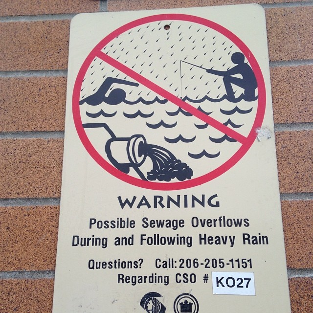 Please do not fish or swim in the sewer.